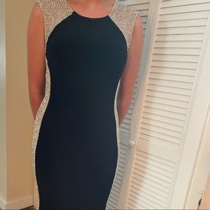 Black and Sequin Formal Dress